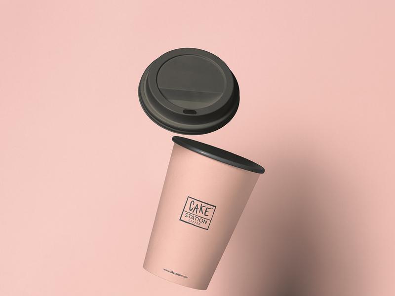 Cake Station / Branding mug mockup mug coffee