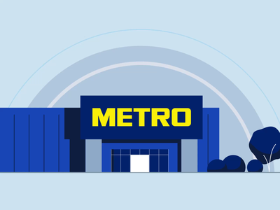 METRO Cash & Carry loop building character animation flat motion motiongraphics explainervideo explainer 2d loop animated gif illustration animation after effects