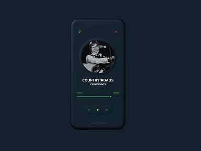 Neomorphic Music Player UI dailyui neomorphism neomorphic user experience ui  ux user interface uiux ui design uidesign ux ui
