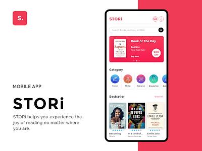 Stori - Ebook App UI/UX ui design reader dailyui user experience user interface uiux uidesign ebook ux ui design