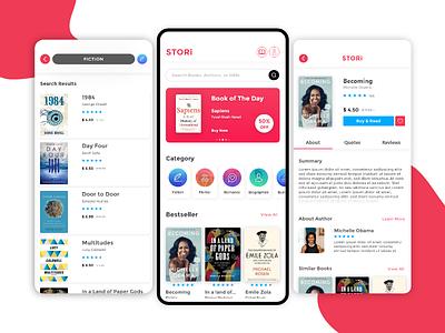 Stori - Ebook App Interface ebooks uxdesign ui  ux user experience user interface uiux ui design uidesign ux ui design