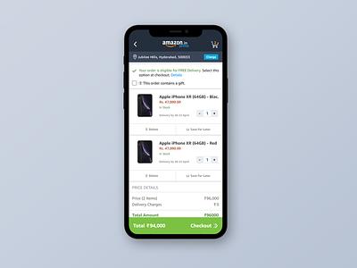 Amazon Cart Redesign uxdesign uiux ui  ux user experience user interface cart amazon ui design uidesign ux ui