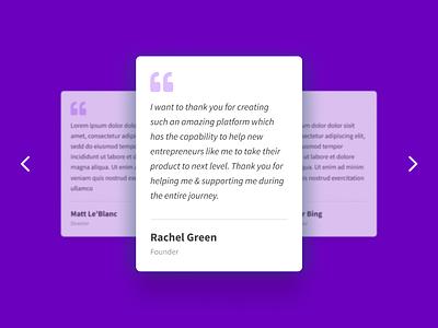 Testimonial Card Design ui  ux user experience testimonials uiux ux ui