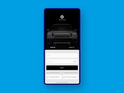 App Login Page Concept - Rivian