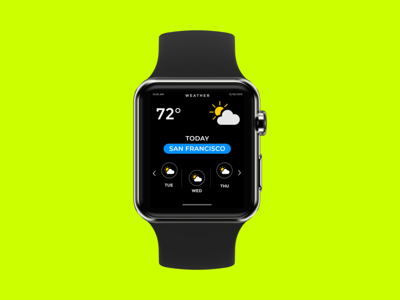 Weather App - Watch UI Design flat dailyui uxdesign user experience ui  ux user interface uiux ui design uidesign daily 100 challenge ux ui design