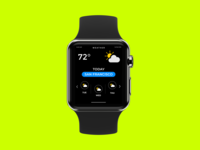 Weather App - Watch UI Design