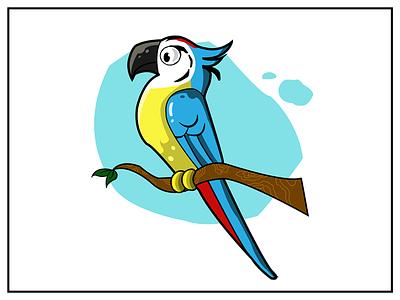 Parrot Illustration flat cartoon parrot visual design design