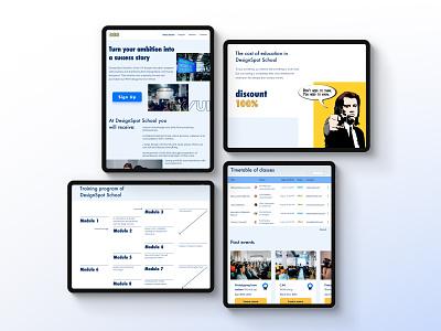 Landing for DesignSpot School #2 adaptive web landing page website ui ux design