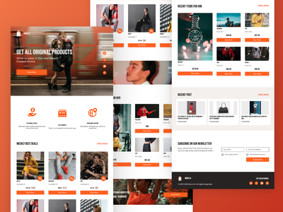 Buro.24 Online Store uidesing shop ecommerce design ecommerce landing page web website branding ui design