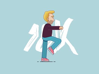 10k reached in Instagram! vector illustrator 2danimation loop branding designer design illustration animation 2d aftereffects 10k
