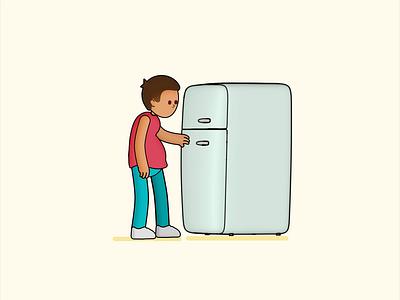 The fridge we need 2d 3d illustrator animator quarantine toon sketchtoon loop gif animation motiongraphics motion c4d