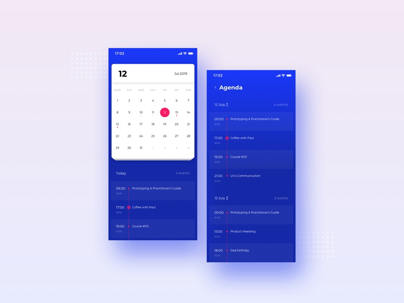 Ui Calendar by PlusEvent on Dribbble