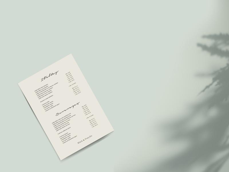 Wedding drink list