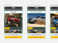 jeep • vehicle landing pages