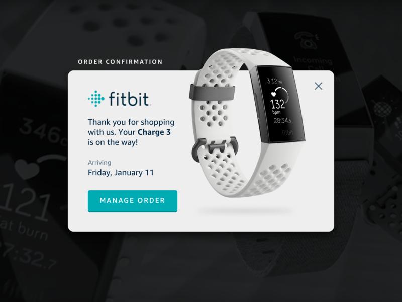 016 • Pop-Up / Overlay simple concept ui device wearable fitbit alert overlay pop-up pop up 016 dailyui daily ui