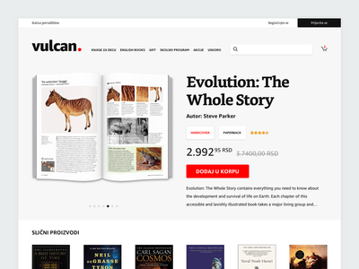 Rebound • Bookstore Product Page concept redesign evolution vulcan ux book ecommerce web ui rebound