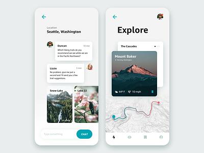 Rebound • Travel App Ø Fjords Guide rebound clean simple explore travel app mobile ui