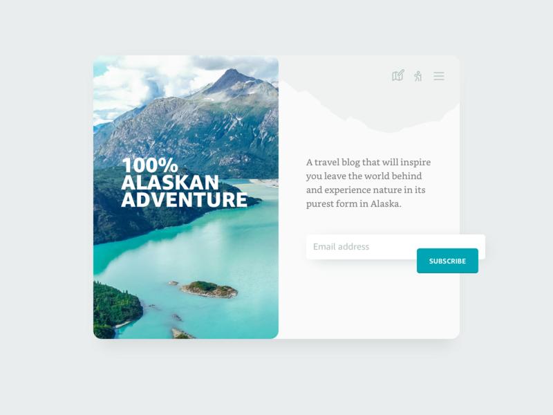 100% Alaskan Adventure concept 026 daily ui dailyui subscribe alaska ui
