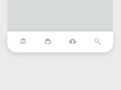 Rebound • Bottom Nav Bar animation white clean minimal simple video bar nav bar navigation rebound