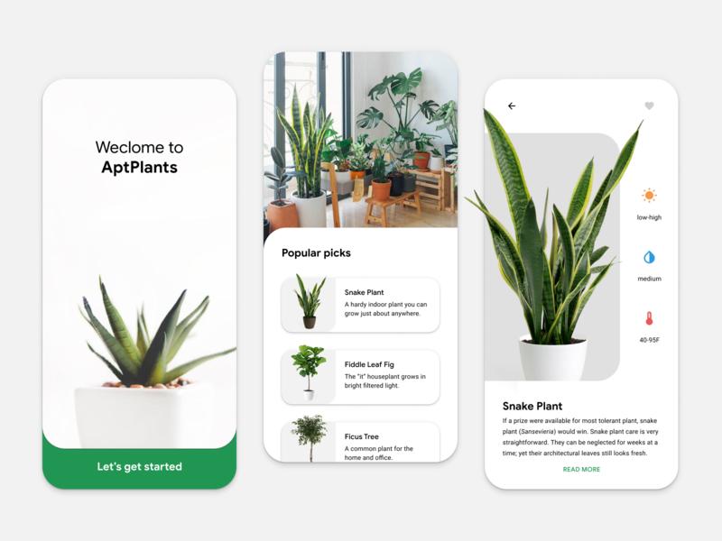 Rebound • Plant App minimal rebound concept simple round white green clean ui mobile plants