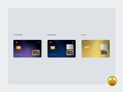 OZT card fintech technology card credit card univers crypto currency gold design blockchain