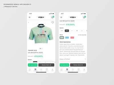 STORE-X 3 mobile app design ecommerce app shopping product ecommerce concept design figma ui design product page product info product detail
