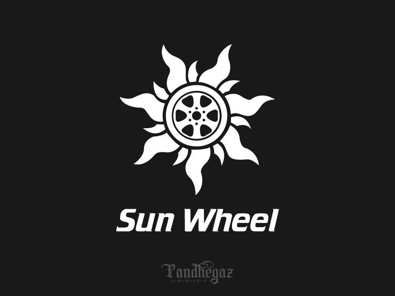 Sun Wheel negative space logo pandhegaz graphic concept spiral background round logotype circle template wheel design sign abstract symbol illustration logo vector sun icon