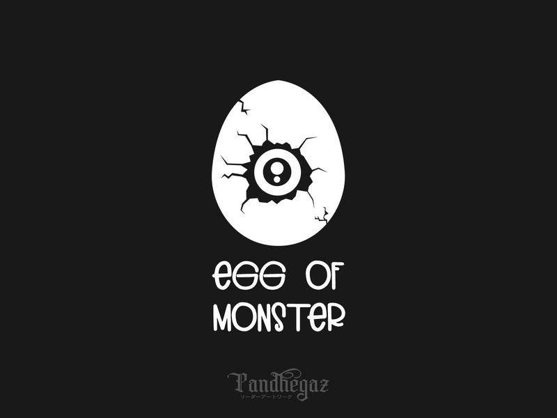 Egg Of Monster pandhegaz negative space logo prehistoric cartoon nature logo cute graphic baby element animal isolated dinosaur symbol design vector illustration icon egg monster
