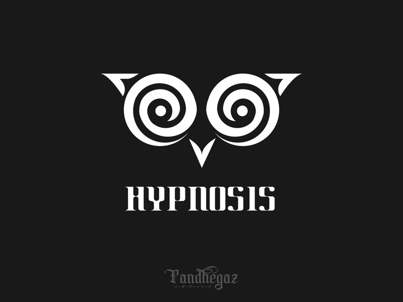 Hypnosis pandhegaz negative space logo mind graphic health spiral concept background business symbol sign element isolated design vector illustration abstract icon hypnosis logo