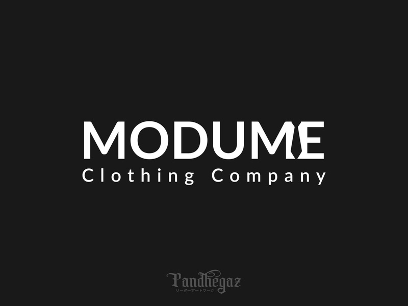 Modume pandhegaz negative space logo cloth sale dress clothing business style element store clothes symbol shop illustration sign fashion icon design vector logo
