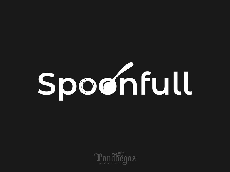 Spoonful pandhegaz negative space logo cutlery kitchen cook meal illustration cooking lunch cafe logo fork symbol vector menu icon spoon food restaurant design
