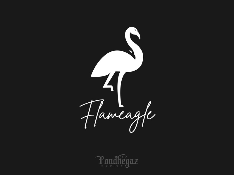 Flameagle negative space logo pandhegaz element wing wildlife abstract graphic animal sign symbol vector logo isolated design bird icon illustration nature eagle flamingo