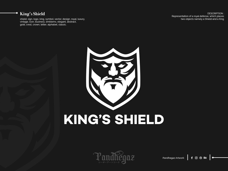 King's Shield double meaning logo. dual meaning logo negative space logo pandhegaz crown elegant s emblem business icon vintage luxury royal design vector symbol king logo sign shield