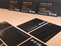Black and Gold Luxury Business Cards