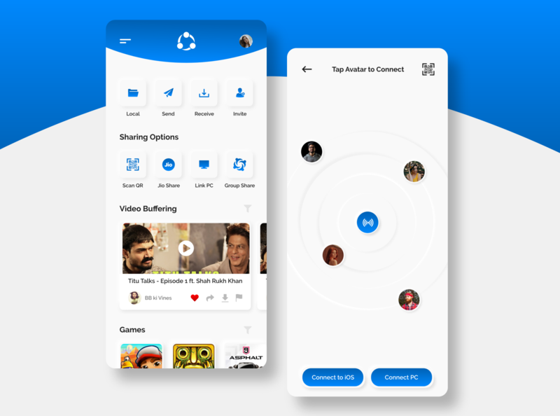 SHAREit - File Transfer App (Redesigned Concept)