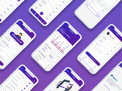 Ledger App - All your money and bill at one place mobileappdesign mobileapp uidesigns mobile purple graphics uxdesign uidesign wallet billing app typography ui design gradient clean ui minimal modern design uiux trending