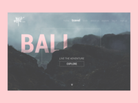 Adventure wild minimal website design