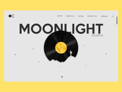 Moonlight studios music CD webpage