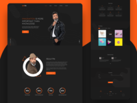 personal web landing page concept