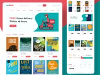 Book e-commerce landing page design