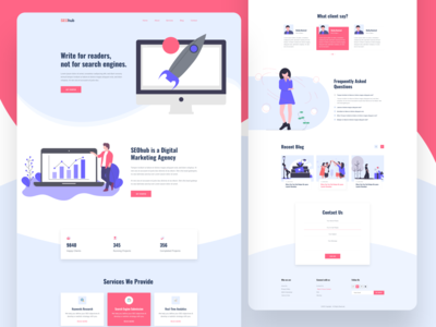 SEOhub -  Seo agency landing page design