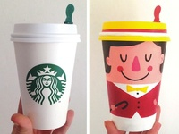 Coffee Cup Character 1: Jolly Boater