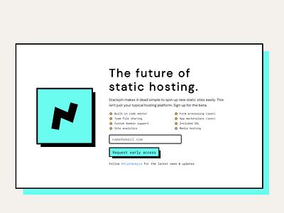 Stackpin Landing page web typography retro logo homepage design branding animation