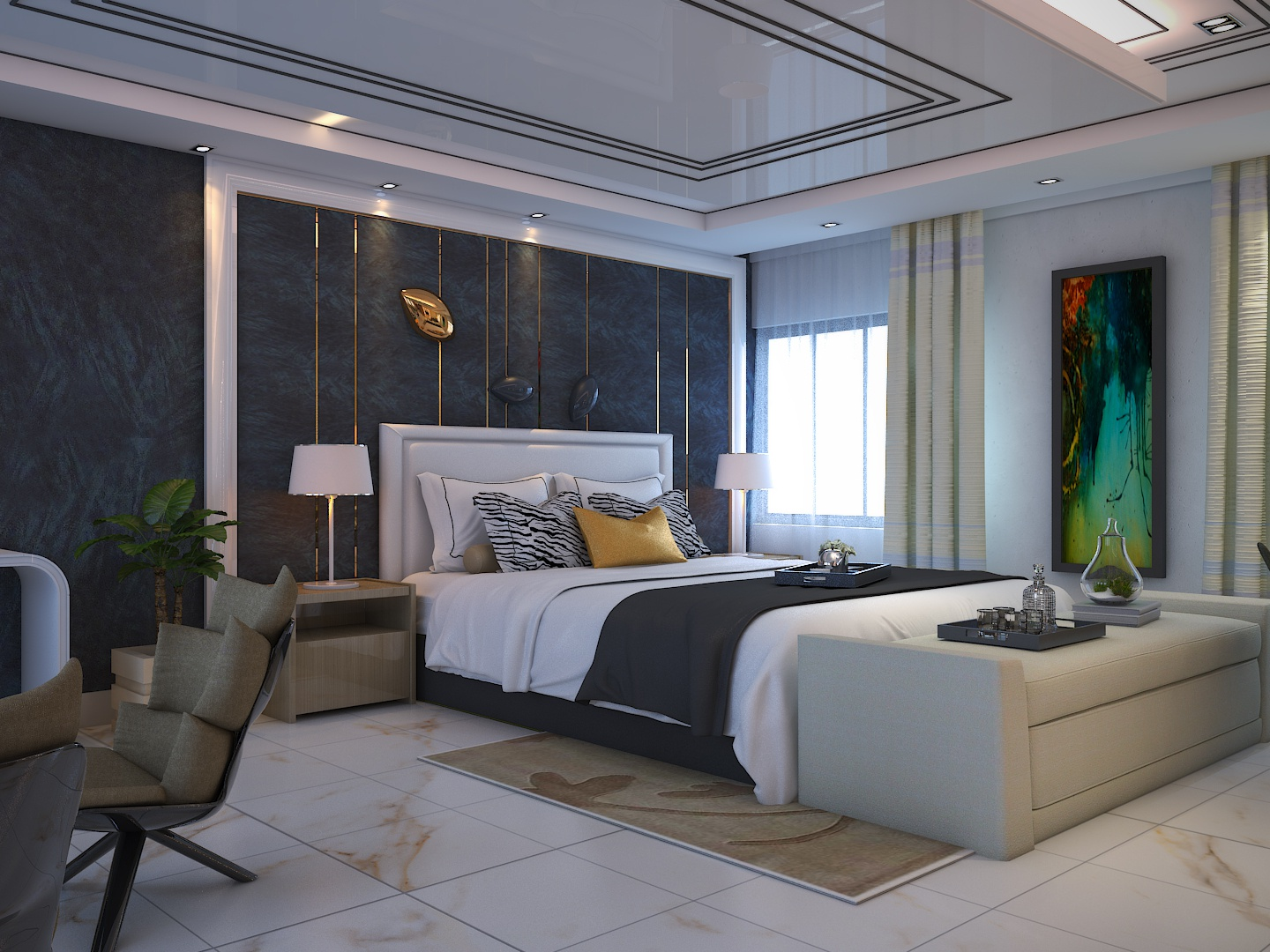 Modern Master Bed Room By Makfubar Rahman On Dribbble