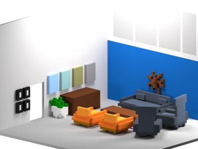 gskinner voxel living room