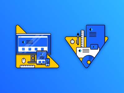 Small Illustrations for personal website