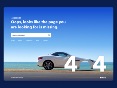 Daily UI 008 — 404 Error Page