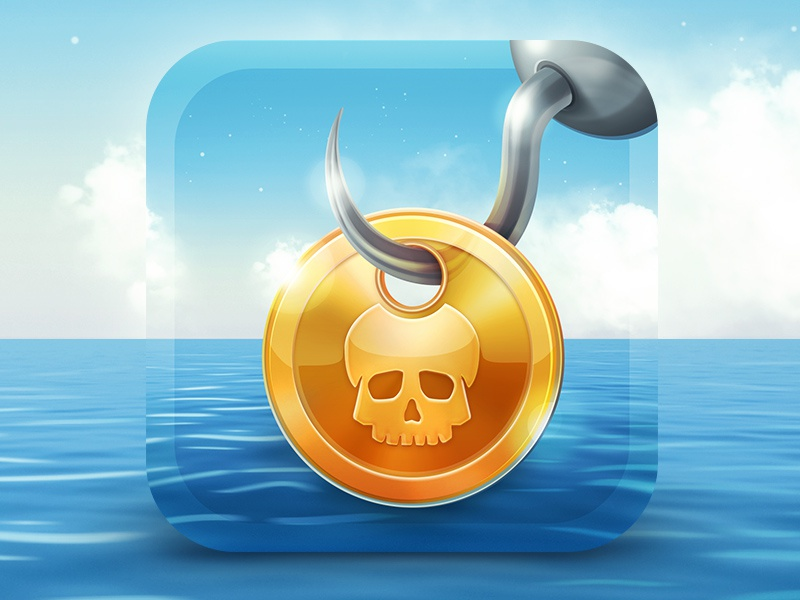 Jackal game iOS icon iphone ios icon app ipad jakal sea coin pirate