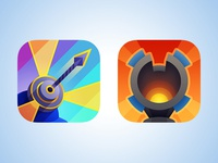 Rejected icons for Defenders iOS game