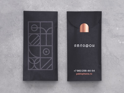 Yablophone Brand Packaging case craft pattern bag packaging package device rostov mobile smartphone apple shop store design brand identity logo logomark branding